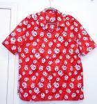 Red snowglobe hawaiian shirt