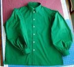 Green Full Puffy Sleeved Shirt