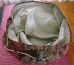 Inside of bag showing side pockets