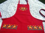 Santa's Workshop Apron, Close Up