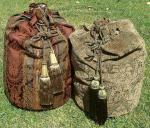 2 large bags with cords and tassels