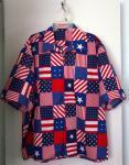 Patriotic Santa Hawaiian shirt