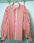 Red Wht striped puffy shirt