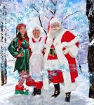 Santa and Mrs Santa with my Elf 2013