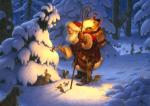 Woodland Santa by Scott Gustafson