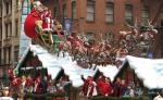 Macy's Santaland crew rides on float