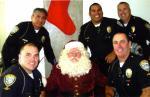 Santa Monica Police with Santa Claus