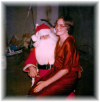 Young Santa Lamar Hall and Wife 1979