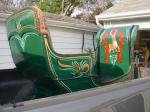 sleigh with new stripes and upholstery