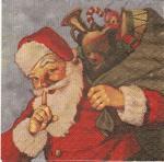 coke type santa napkin pic