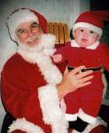 "Santa Jim and my newest ""grand elf"" Zach"