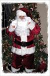 Santa Peeking