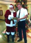Santa with FedEx Pilot