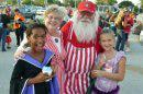 Santa Bear Larry and Mrs. Claus at Fall festival