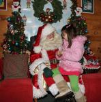 Santa And a Little Friend at kringleville