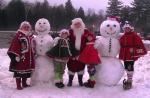 Santa group snowman