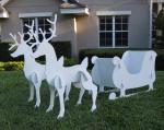 outdoor santa sleigh
