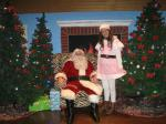 Santa and Elf Shelby waiting for the children