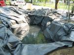 Pond being built