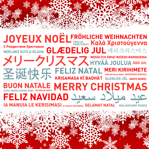 how to write merry christmas in different languages
