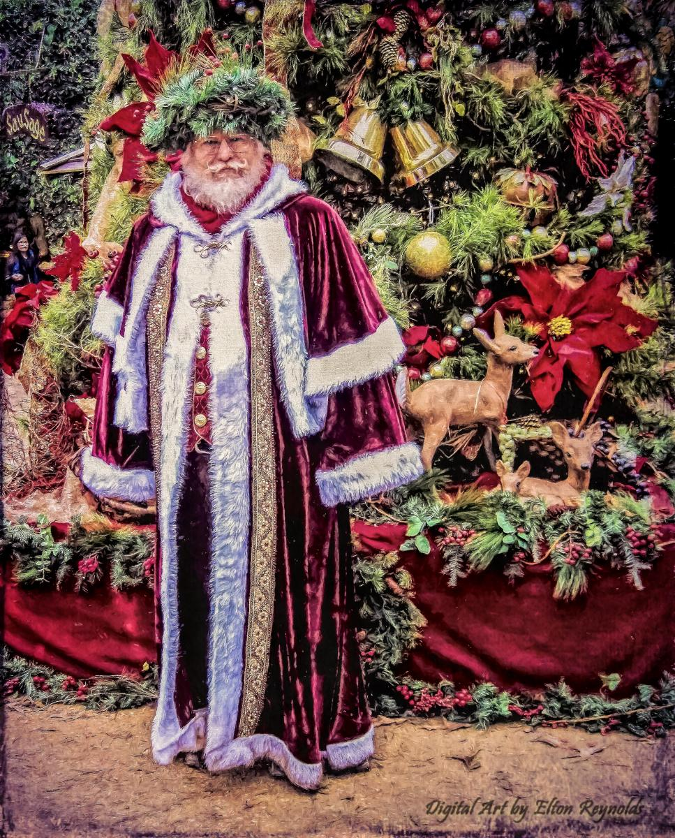 Father Christmas at Texas RenFest 2015 ~ full length view