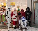 R2D2 and his friends visit Santa.