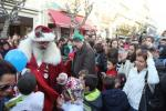 Santa Claus parade in the city of Espinho