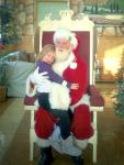 Hug at a Breakfast with Santa