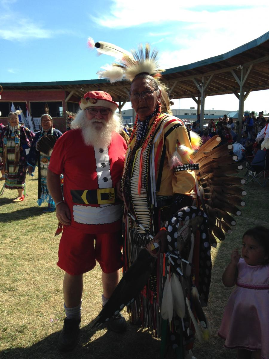 One of the elders asked me to dance in the Circle with him during the Pow Wow