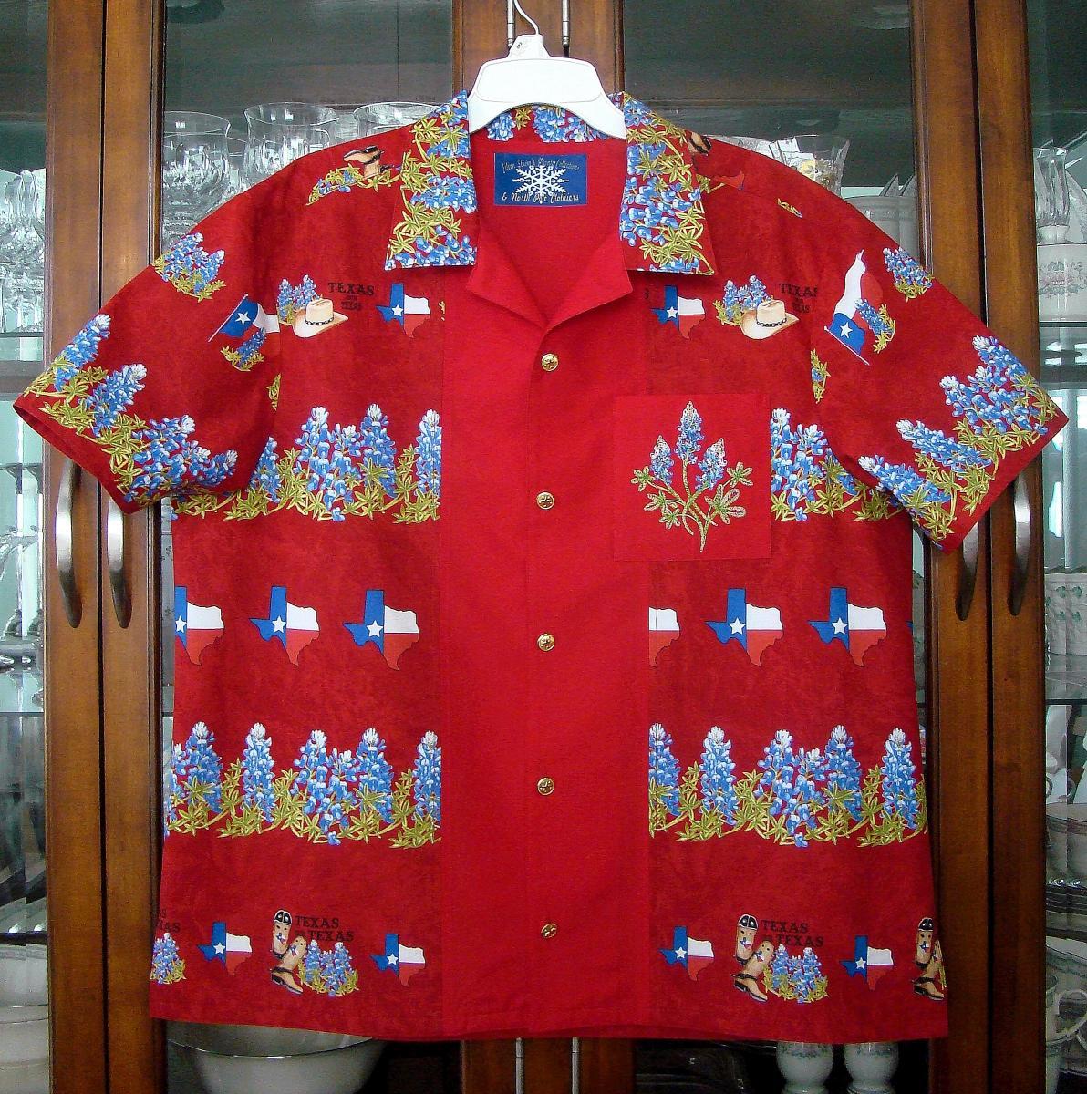 Texas Bowling Shirt style Hawaiian Shirt