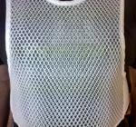 Close up of double mesh vest
