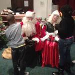 Santaing with the foster Children