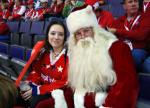 Santa Rocks the Red ~ Let's Go Caps