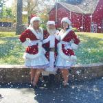 santa and helpers at Worlds of Fun ground breaking2016
