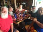 Some of the Santas working in Hawaii
