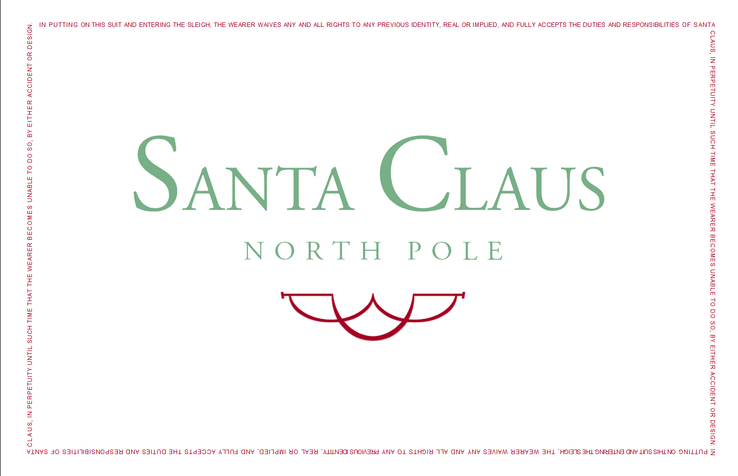 The santa clause business card templates clausnet colourmoves Gallery