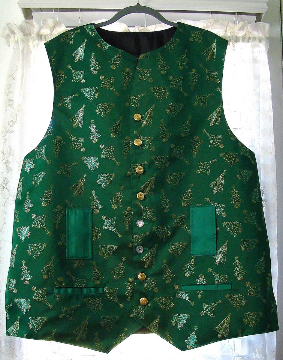 Gene Sanders Green Christmas Tree Vest