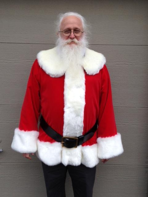 Another one of Santa Rich in XL traditional fur front suit, belt not in loops agin.