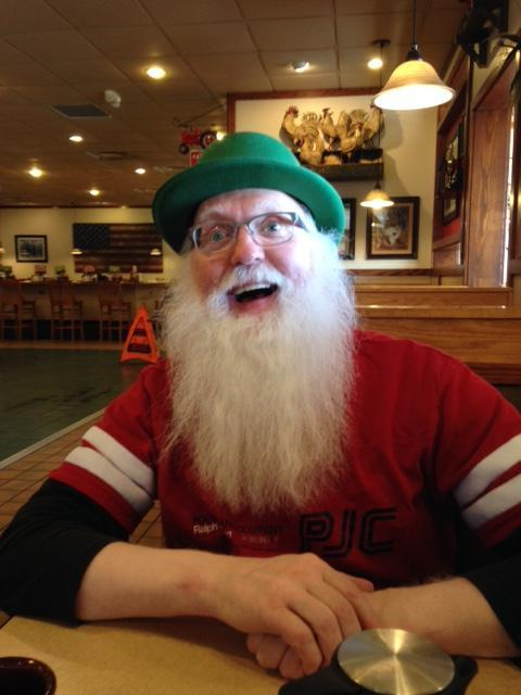 Santa Jim Zielsdorph having some St. Paddy's day fun