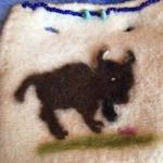 Needle~Felted (with Bison fur) & Hand~ beaded - summer 2016