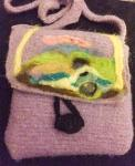 Needle-felted Woolen Pouch