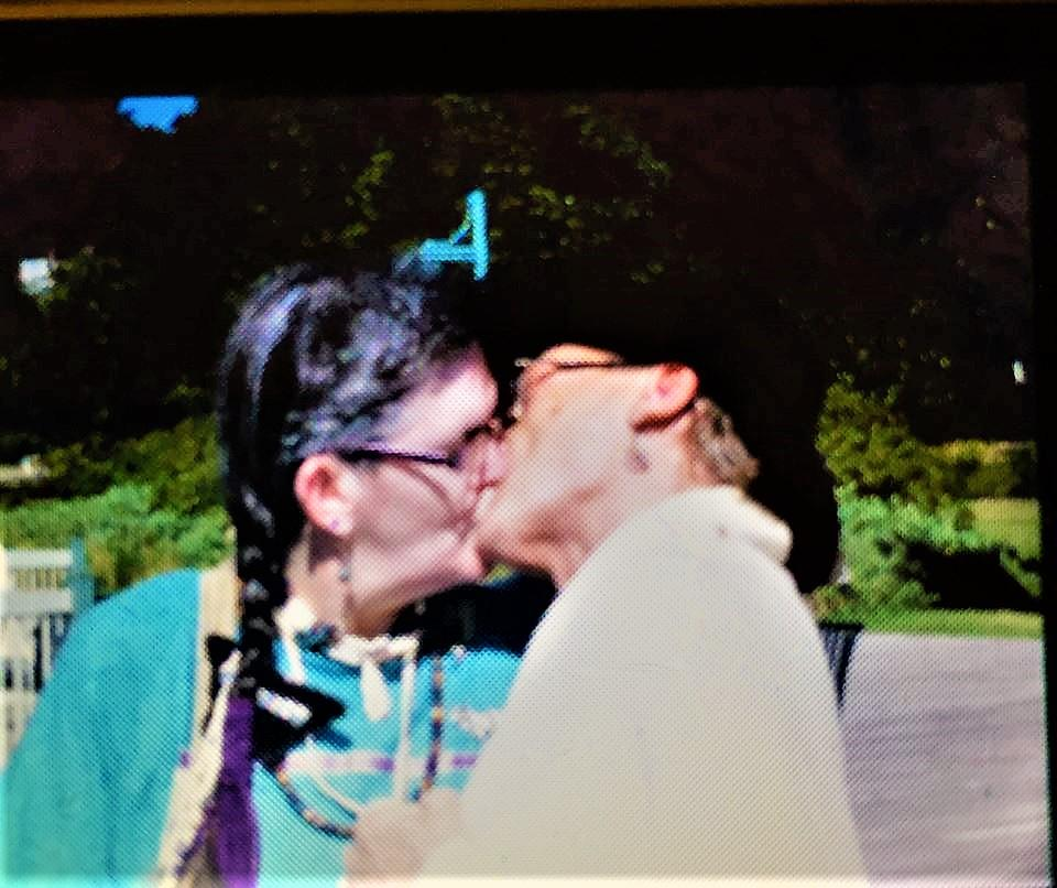 Our First Kiss as Mr. & Mrs.