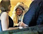 Native American Wedding conducted by me in 2010 wearing imitation Bald Eagle headdress