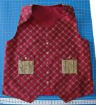 Dave's Vest Cranberry embroidered silk vest