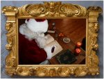 Santa good list book frame angel shadow.png