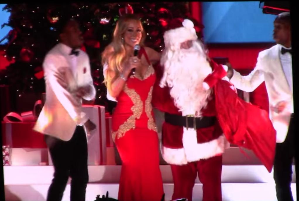 Mariah Carey 02 Arena London As Santa