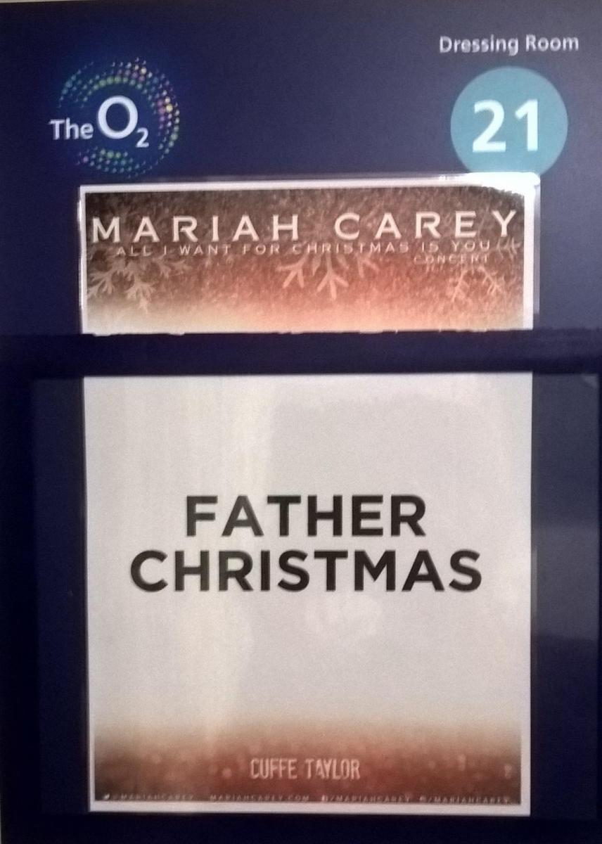 Father Christmas Dressing Room Mariah Carey