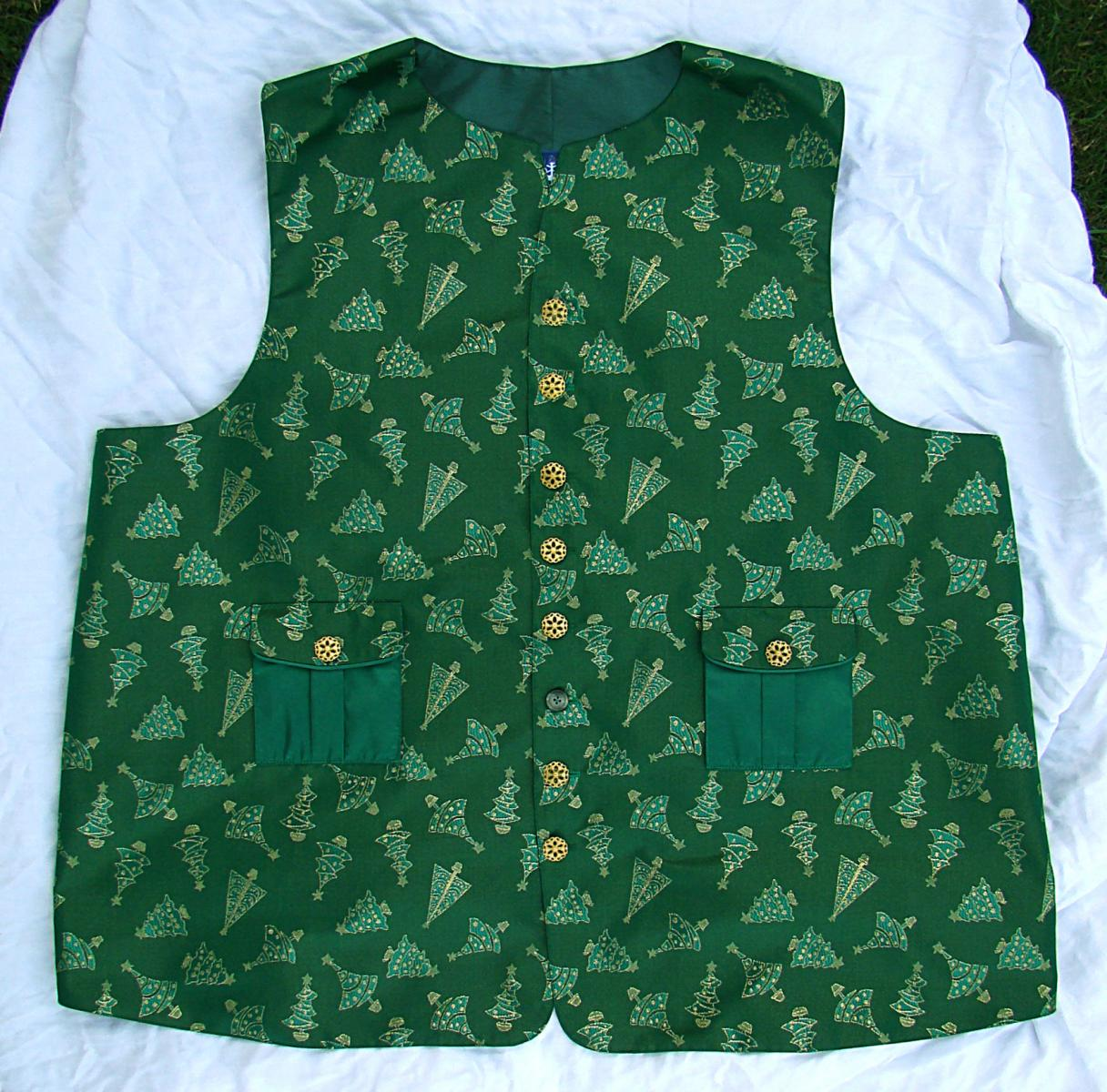 Ray Scott green vest front flat