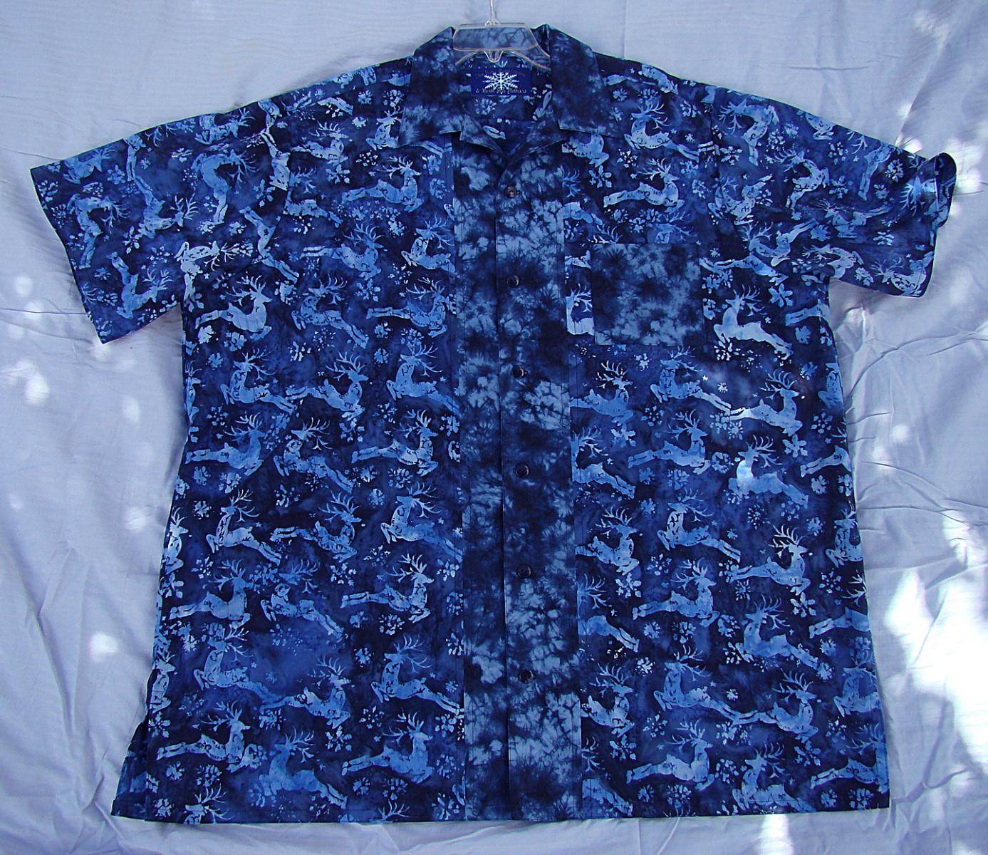 Wayne blue reindeer Hawaiian shirt.jpg