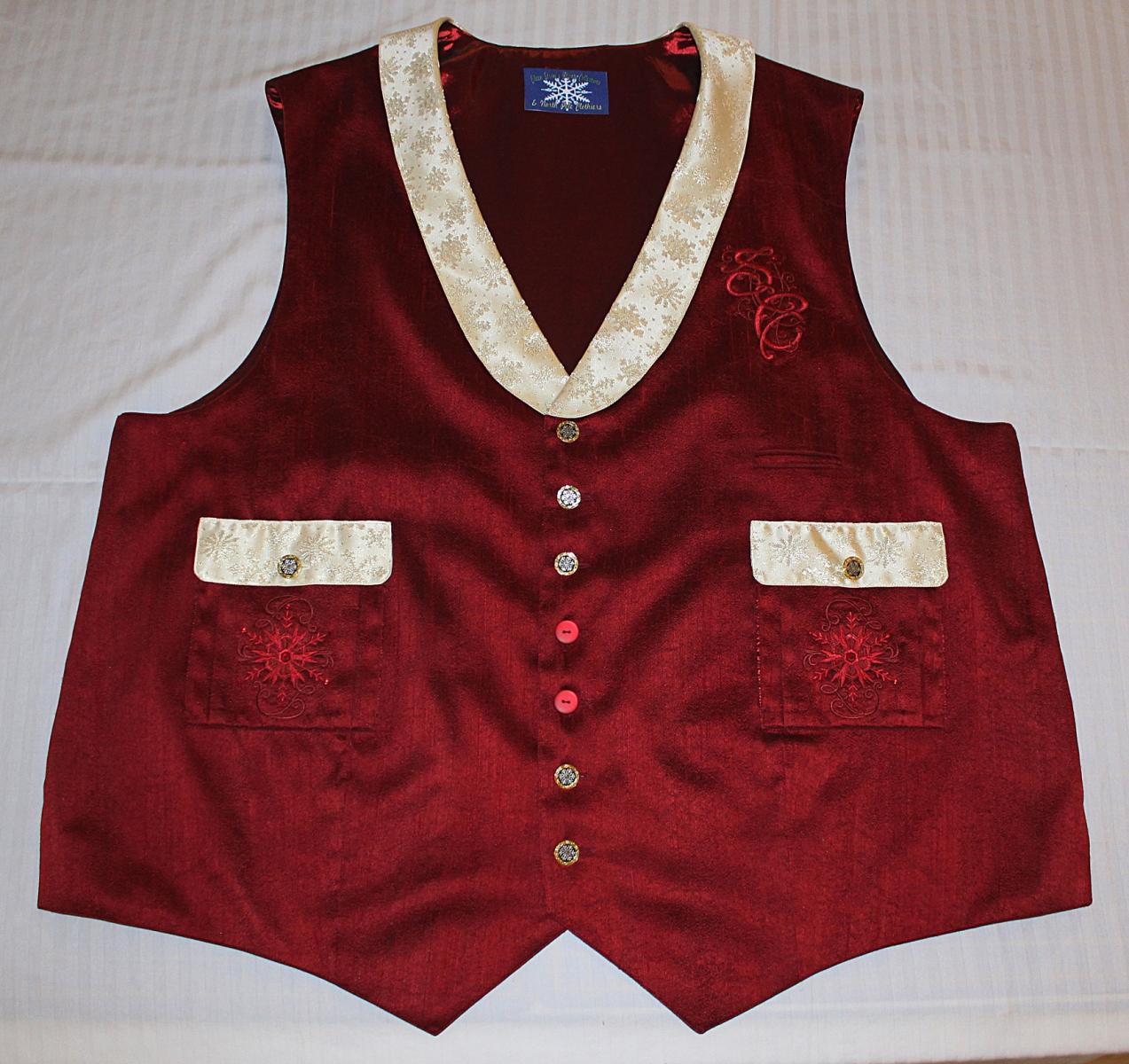 Johnathan's red vest front